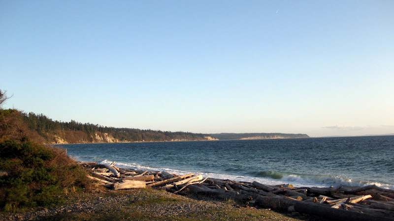 Looking west from the beach near Coupeville