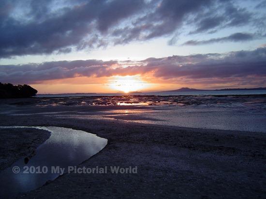 Sunset-From-Omana-Beach-Maraetai-New Zealand