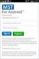 Screenshot of Stock Tips and Market Alerts