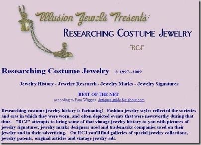 Researching Costume Jewelry >> A Classy Flea Researching Costume Jewelry