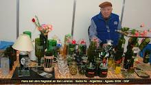 Artesanías en botellas - Copas, vasos, con vidrio reciclado