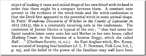 extract from book on witches familiars