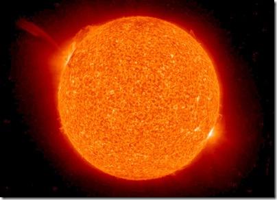 A segunda cena da ejeção de massa coronal (Foto: NASA)
