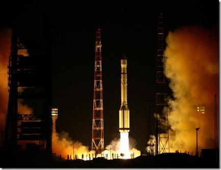 Lançamento de mais três satélites Glonass (Foto: AFP)