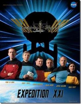 """Expedição XXI, """"Star Trek"""" (Foto via G1)"""