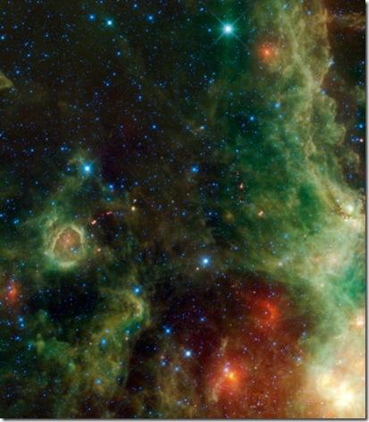 Imagem feita pela sonda WISE divulgada pela NASA (Foto via R7)