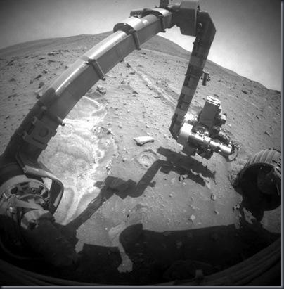 Fotografia tirada pelo Spirit (Foto: NASA/JPL-Caltech)