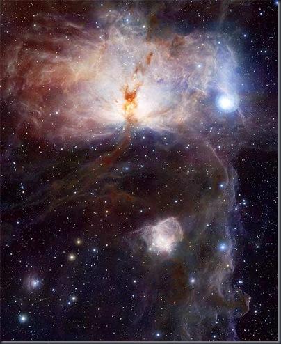 Primeira luz do VISTA: Nebulosa da Chama (Foto: ESO)