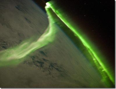 Aurora austral fotografada a partir da ISS em 29/05/2010 (Foto: NASA)