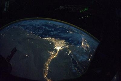Nilo fotografado da ISS (Foto: Douglas Wheelock)