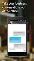 Screenshot of Zipwhip Texting App