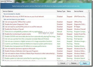 windows 7 manager - service manager