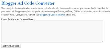 ad code converter - eblogtemplates - vmancer
