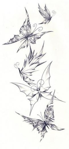 Here are some nice black butterfly tattoo designs.