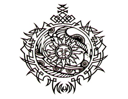 Picture above is a suitable celtic tattoos for women, very interesting if