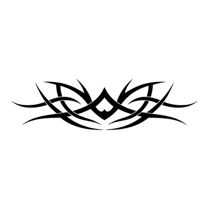Label: tribal tattoo with flower symbol design