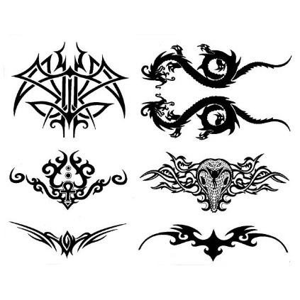 Tribal back pieces tattoos designs pictures 4