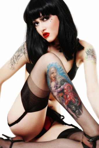 Beautiful Womens Tattoo 4 (zone)