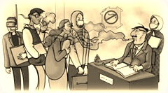 secondhand-smoking-office