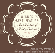 Anthropologie blogger awards