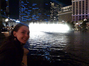 New Years eve at Bellagio casino water show