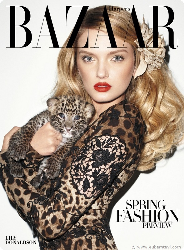 Harper's Bazaar US January 2011 Cover - Lily Donaldson by Terry Richardson 01