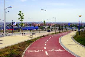 carril bici plaza norte Leganes