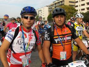 JJGoas y JFdelaFuente al comienzo de la maraton sierra morena