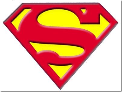 Logotipo de superman para colorear - Imagui