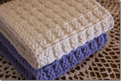 Waffle Knitting Pattern Dishcloth : Count It All Joy!: Waffle Knit Dishcloths