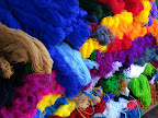 Beautiful colors of yarn at Chichicastenango market