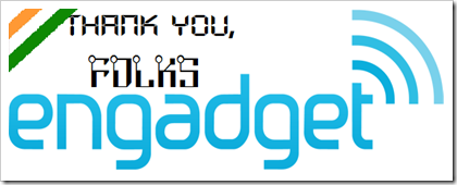 Engadget logo - Indian Geekified