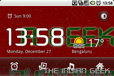 Android 2 - Desk Clock Landscape mode