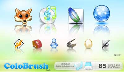 Color Brush Pack icons