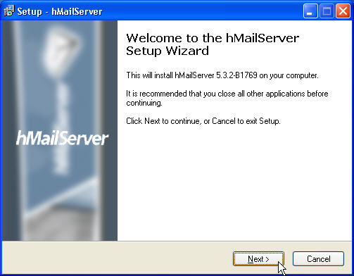 mail server,hmailserver setup