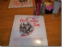 OST Old Spanish Trail Menu