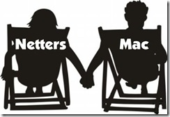Netters and Mac in chairs
