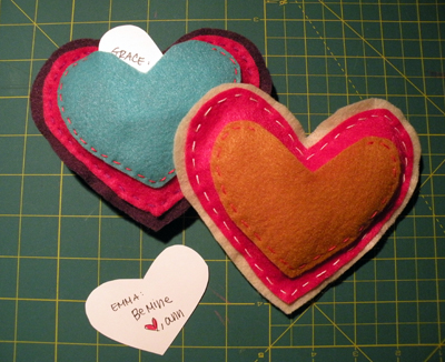 hidden message felt hearts tutorial