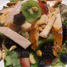 Turkey Salad over Mixed Greens With Fruit