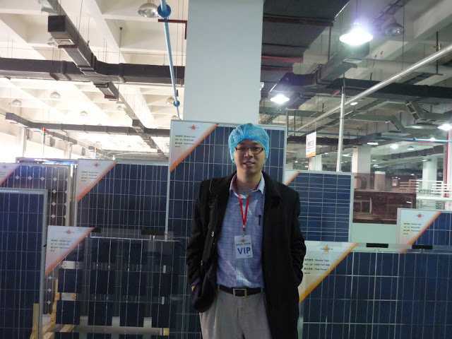 GLF at Yingli's production line in Baoding, Dec '08