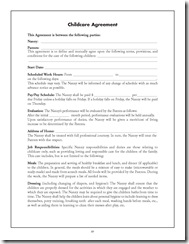 nanny agreement pg1