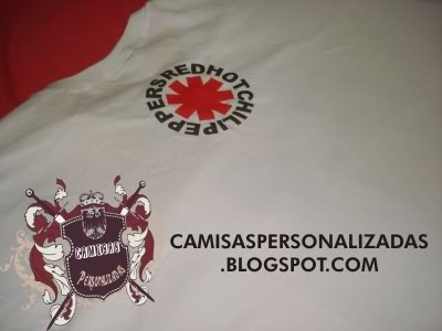 Red Hot Chili Peppers RHCP shirt camisa - costas Logo detalhe