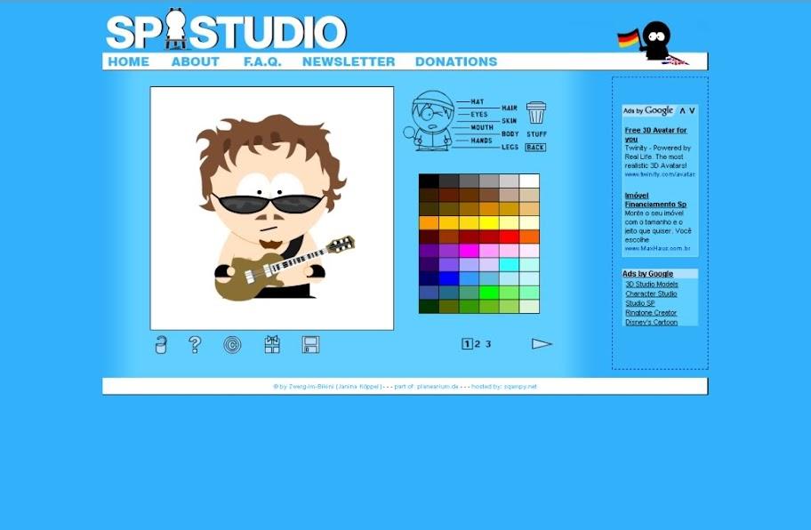 South Park Studio - Site para criar desenhos do South Park online