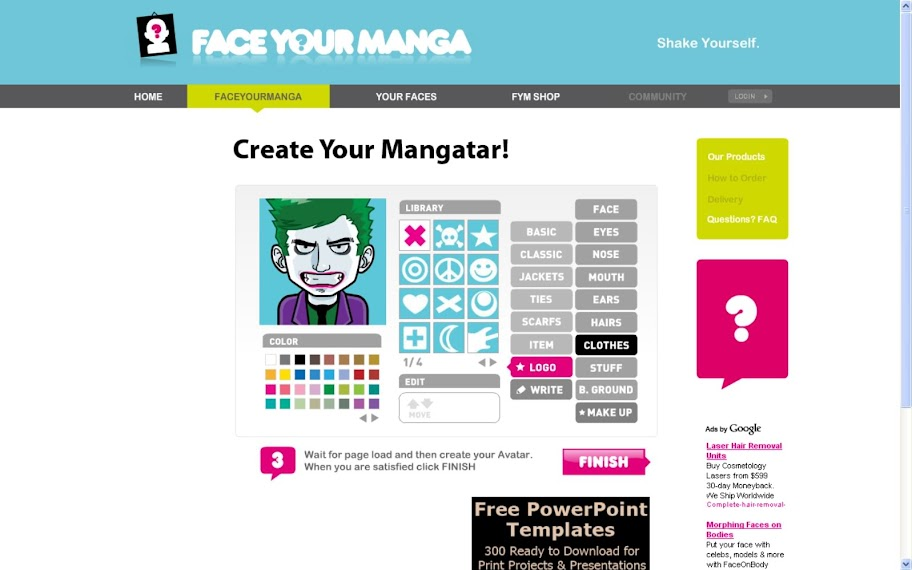 Face Your Manga - Acesse o site