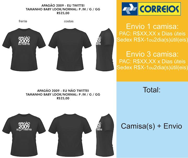 Camisa APAGÃO 2009 - EU (NÃO) TWITTEI