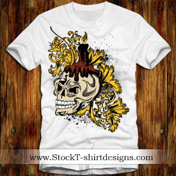 Estampa: T-shirt Design Skull