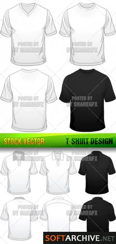 Templates de Camisa 28: Stock Vector - T-Shirt Design 2806