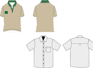Template de Camisa 33: T-shirt Work uniforms