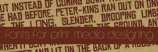 25 Fontes para mídia impressa