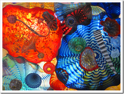 Chihuly Bridge of Glass: ceiling panel